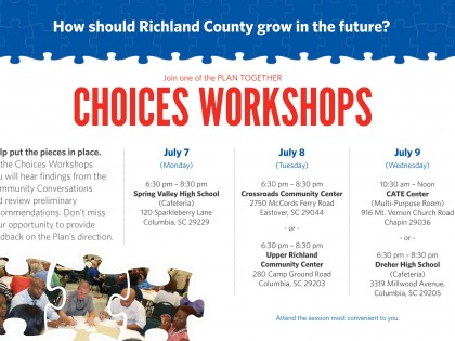 Attend a Choices Workshop for Richland County (July 7-9)