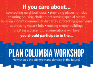 Attend the Plan Columbia Workshop (June 24-26)