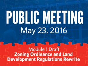 Public Meeting: May 23, 2016