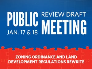 Public Review Draft Open House, January 17-18, 2018